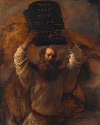 Famous painting of Moses by Rembrandt